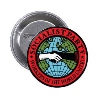 SOCIALIST PARTY USA 6 CM ROUND BADGE