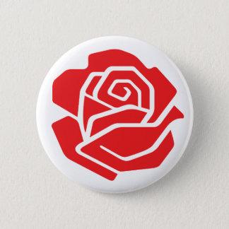 Socialist Rose Button
