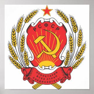 Socialist Russia national emblem Poster