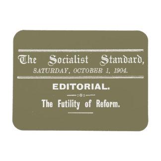 Socialist Standard 1904 October Editorial beige Rectangular Photo Magnet