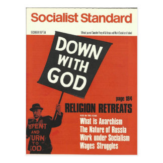 Socialist Standard December 1967 Postcard