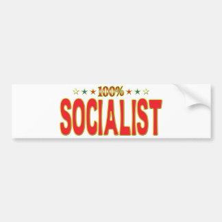 Socialist Star Tag Bumper Stickers