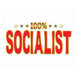 Socialist Star Tag Postcard