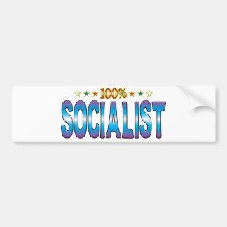 Socialist Star Tag v2 Bumper Sticker