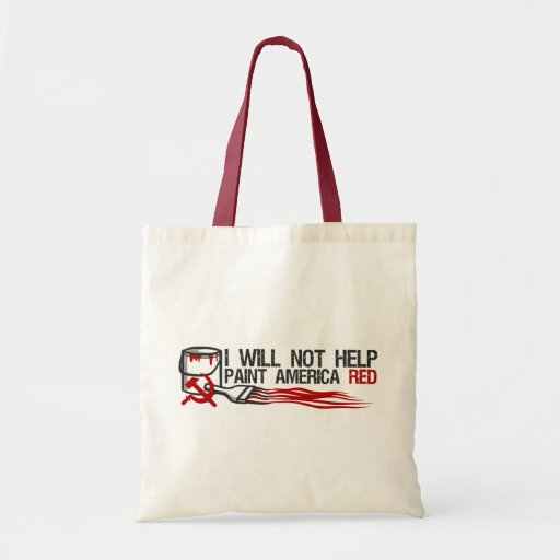 Socialist's Red Paint Tote Bags