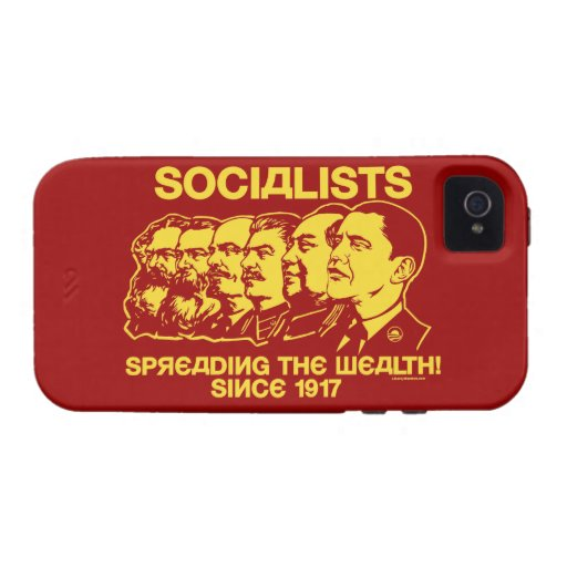 Socialists: Spreading the Wealth Case-Mate iPhone 4 Cases