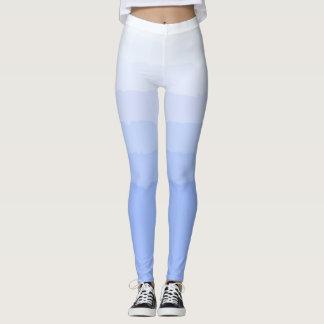 Socialite Blue Graded Ombre Pattern Leggings