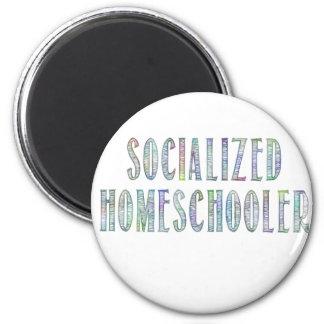Socialized Homeschooler 6 Cm Round Magnet