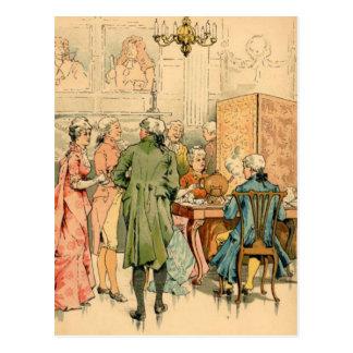 Socializing 18th Century Postcard