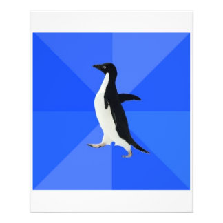 Socially Awkward Penguin Advice Animal Meme 11.5 Cm X 14 Cm Flyer