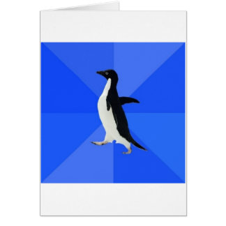 Socially Awkward Penguin Advice Animal Meme Card