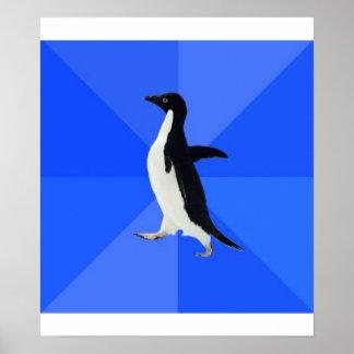 Socially Awkward Penguin Advice Animal Meme Print