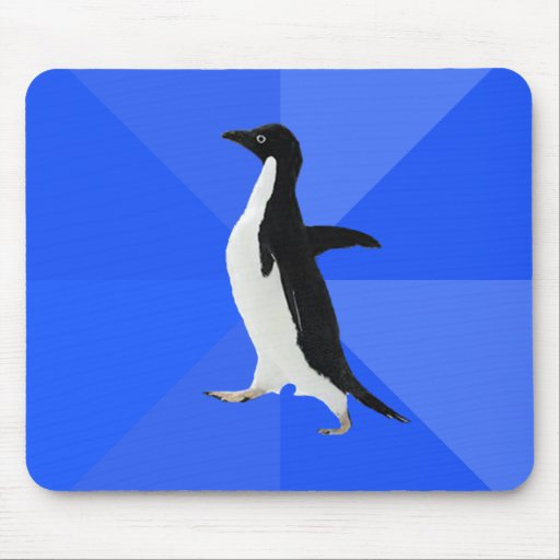 "Socially Awkward Penguin (""Customise"" to add text)"