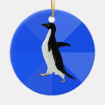 "Socially Awkward Penguin (""Customise"" to add text) Christmas Tree Ornament"