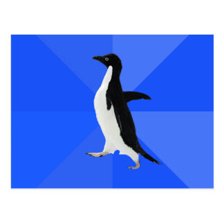 "Socially Awkward Penguin (""Customize"" to add text) Postcard"