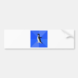 Socially-Awkward-Penguin-Meme Bumper Sticker