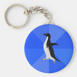 Socially-Awkward-Penguin-Meme Key Ring