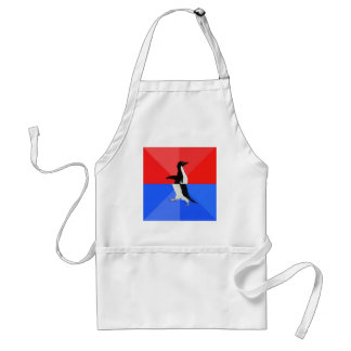 Socially Confused Penguin Advice Animal Meme Aprons