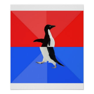 Socially Confused Penguin Advice Animal Meme Poster