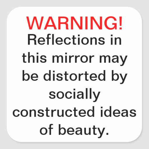 Socially Constructed Beauty Stickers