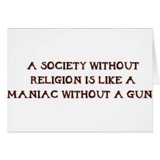Society and Maniacs Card