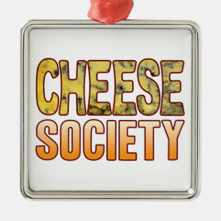 Society Blue Cheese Silver-Colored Square Decoration