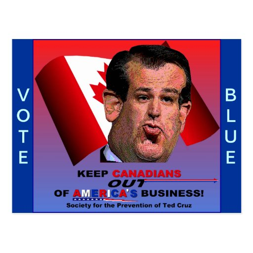 Society for the Prevention of Ted Cruz Post Card