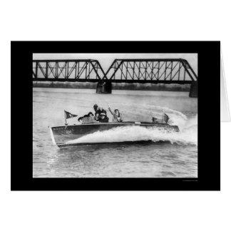 Society Girls Boat Ride 1923 Card