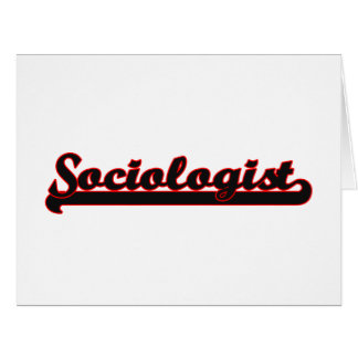Sociologist Classic Job Design Large Greeting Card