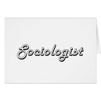 Sociologist Classic Job Design Stationery Note Card