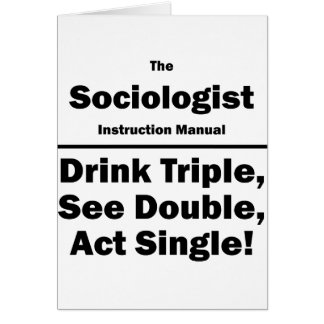 sociologist note card