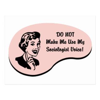 Sociologist Voice Postcard