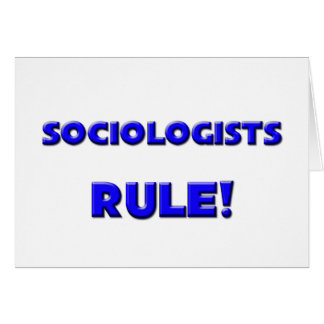 Sociologists Rule Cards
