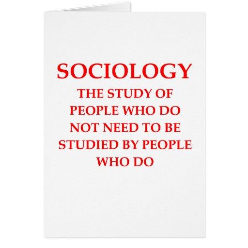 sociology greeting cards