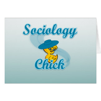 Sociology Chick #3 Greeting Card