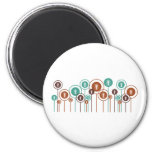 Sociology Daisies 6 Cm Round Magnet