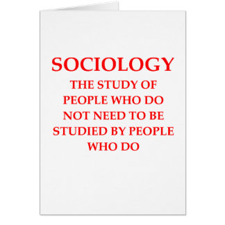 sociology greeting card