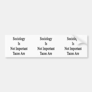 Sociology Is Not Important Tacos Are Bumper Sticker