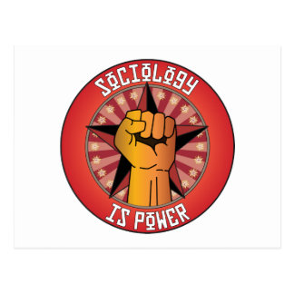 Sociology Is Power Postcard