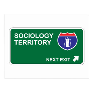 Sociology Next Exit Postcard