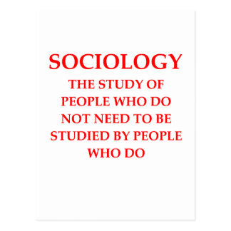 sociology postcard