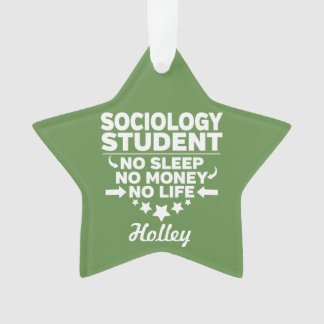 Sociology Student No Life or Money Ornament