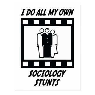 Sociology Stunts Postcard