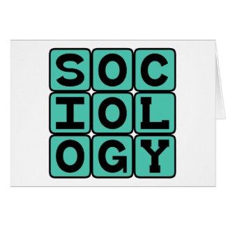 Sociology, The Study of Human Behavior Greeting Card