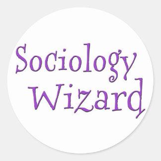 Sociology Wizard Classic Round Sticker