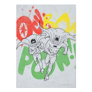 SOCK BAM POW Batman and Robin 13 Cm X 18 Cm Invitation Card