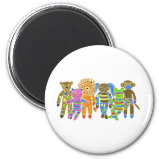 Sock Critters 6 Cm Round Magnet
