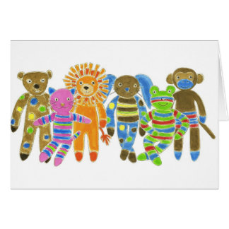 Sock Critters Greeting Card