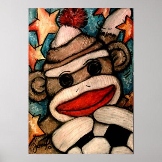 SOCK-er Monkey Poster
