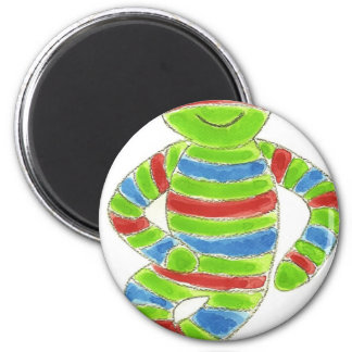 Sock Froggy 6 Cm Round Magnet